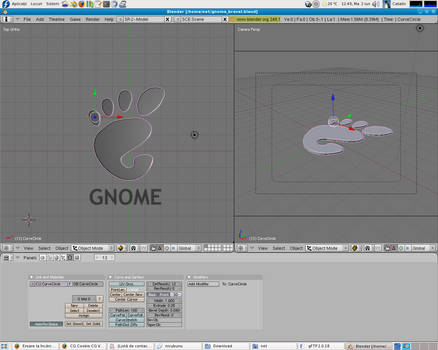 gnome in blender 3D