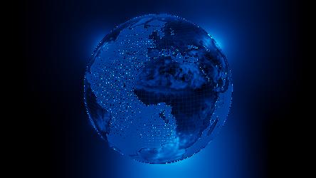Earth transparent hologram