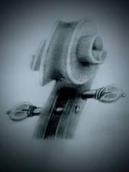 Violin scroll by mufasaaron