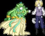 PC: The priestess and the mercenary by KyokiNoRozu