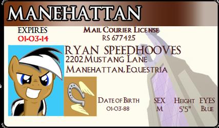 Ryan Speedhooves License by CarbonRDSJ
