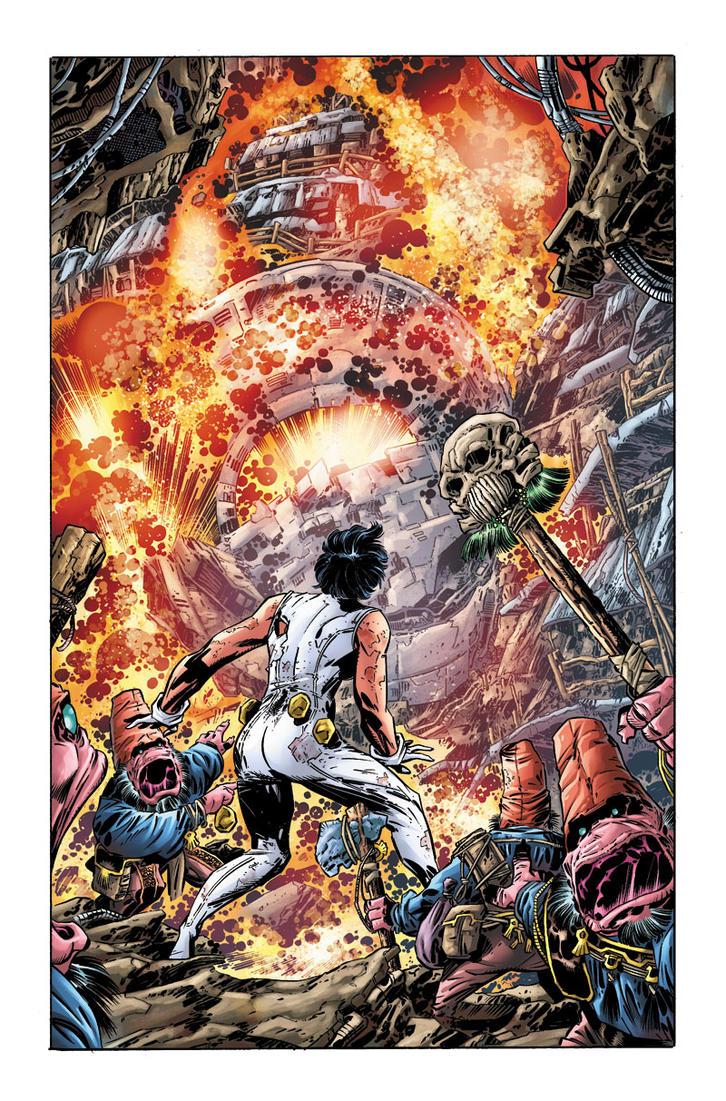 Legion of Super-Heroes #17 page 2 by JavierMena