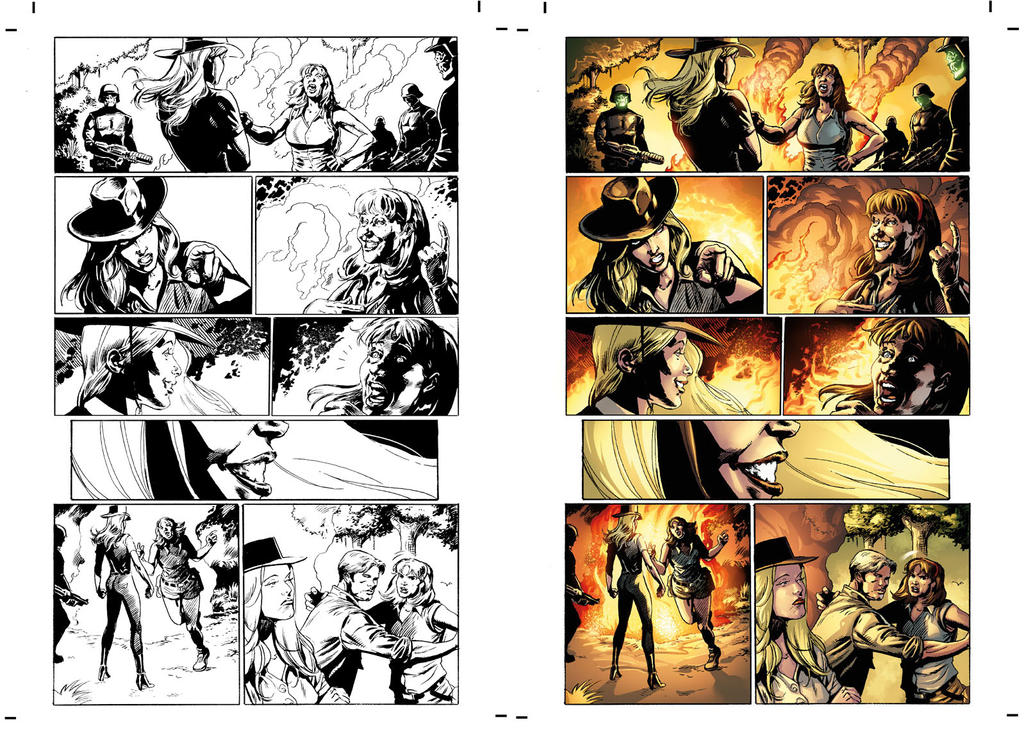 Captain Midnight #8 page 18 by JavierMena