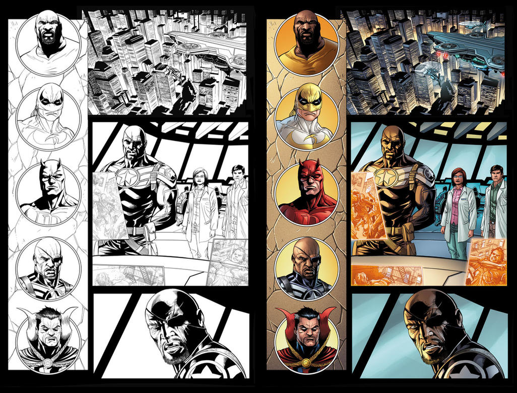 Zing! Avengers #3 page 1 by JavierMena