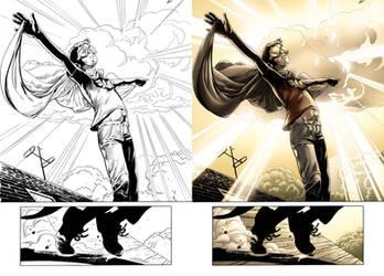 Captain Midnight #10 page 2 by JavierMena