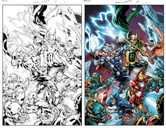 Avengers VS #1 by JavierMena