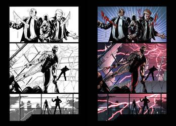 Captain Midnight #11 page 18 by JavierMena