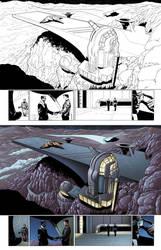 Captain Midnight #11 page 20-21 by JavierMena