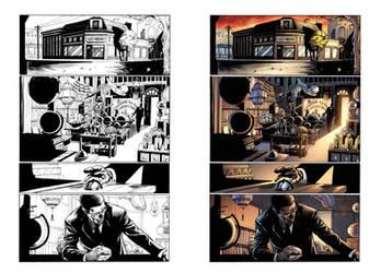 Captain Midnight #16 page 1 by JavierMena