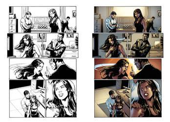Captain Midnight #17 page 15 by JavierMena