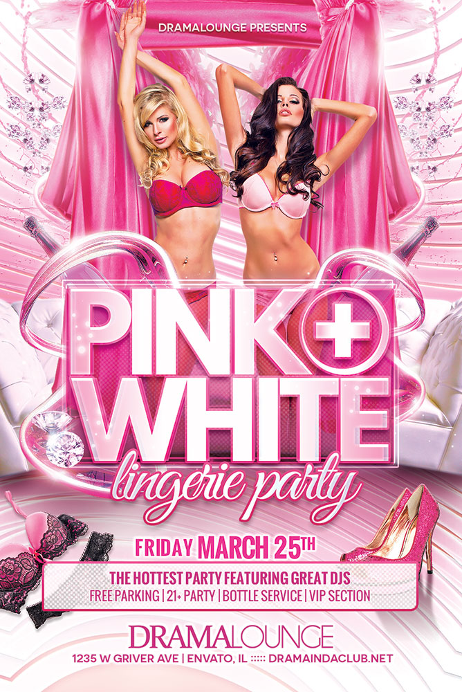 Pink + White Flyer by hueyangdesigns