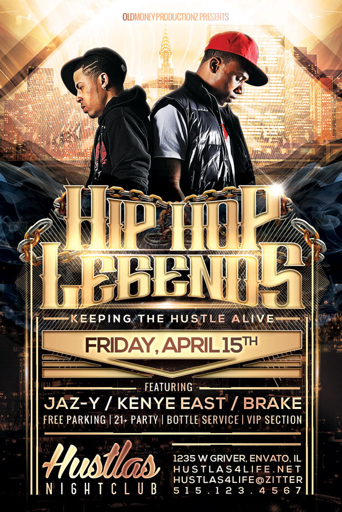 Hip Hop Legends Flyer by hueyangdesigns on DeviantArt