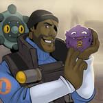 Demoman with Buben and Fublin