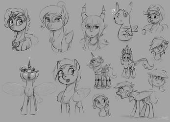 Mini-Sketchdump November 15th 2018 by SilverHopeXIII