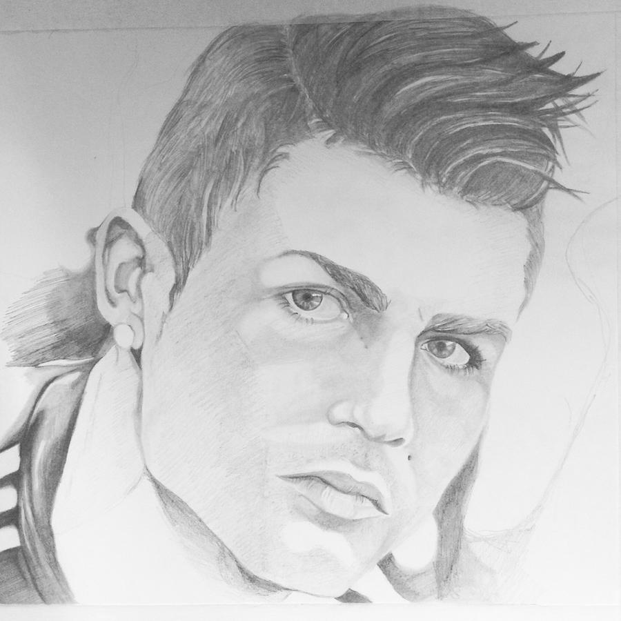 how to draw ronaldo face easy