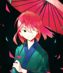 Sakura petals~ by Mayoroshka