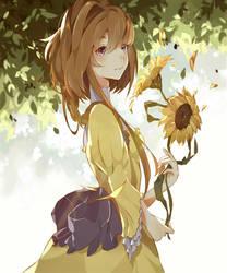 Sunflower girl by Mayoroshka