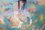 Princess on the lake by Mayoroshka
