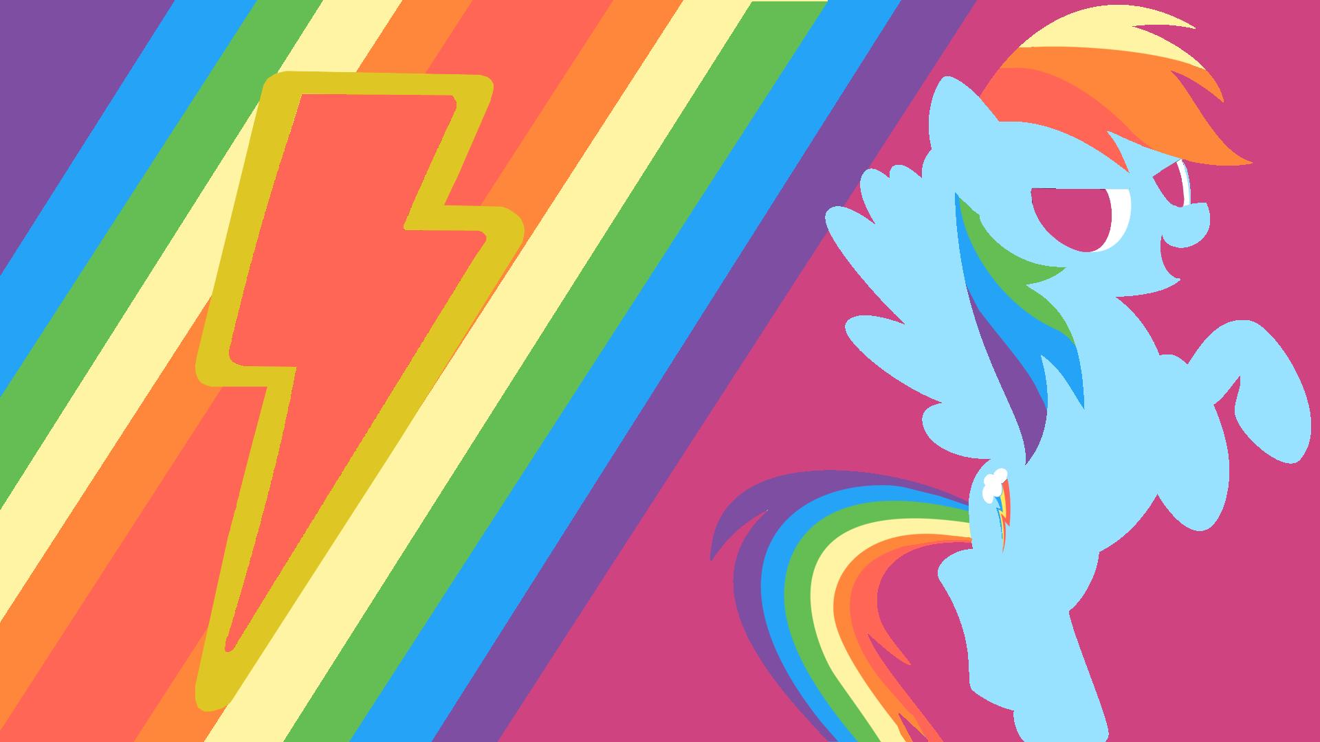Rainbow Dash's Loyalty Minimalist Wallpaper by Narflarg on deviantART