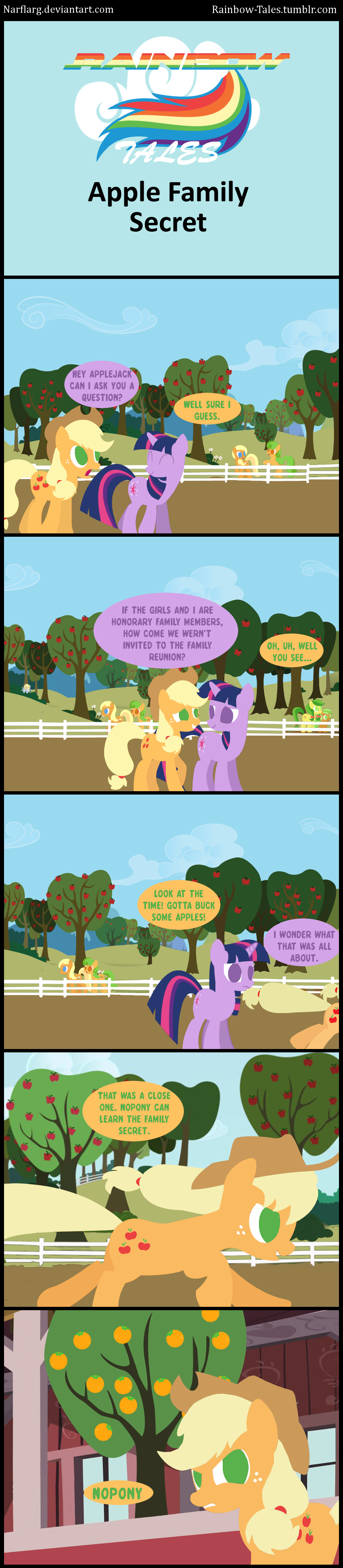Rainbow Tales: Apple Family Secret by Narflarg