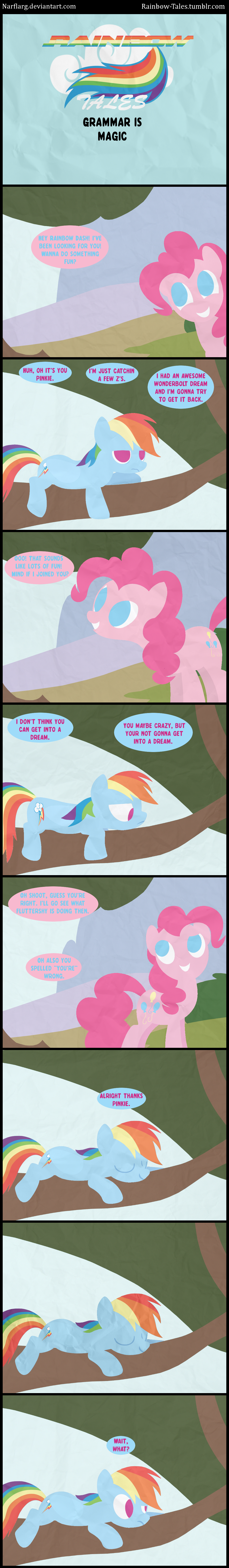 Rainbow Tales: Grammar is Magic by Narflarg