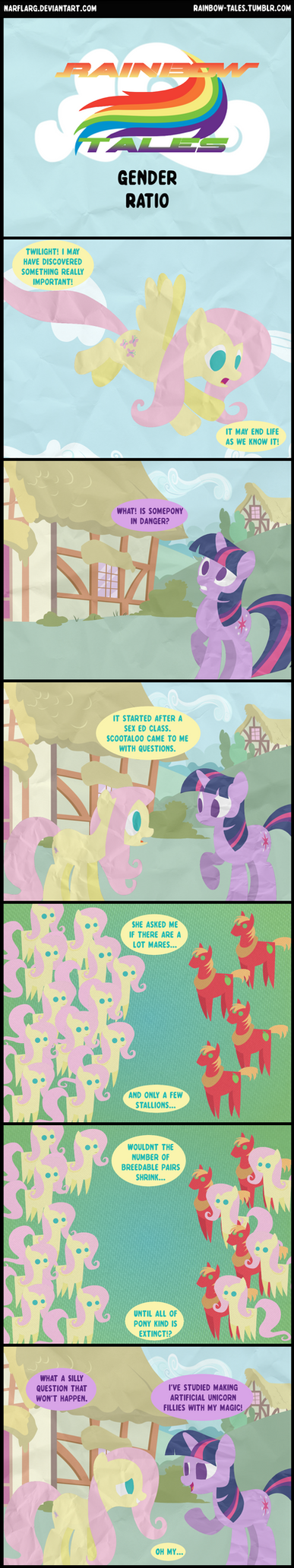 Rainbow Tales: Gender Ratio by Narflarg