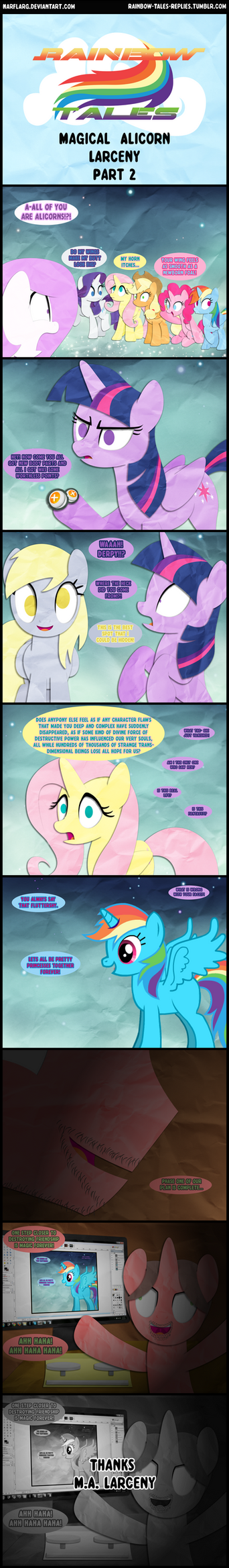 Rainbow Tales: Magical Alicorn Larceny Part 2 by Narflarg