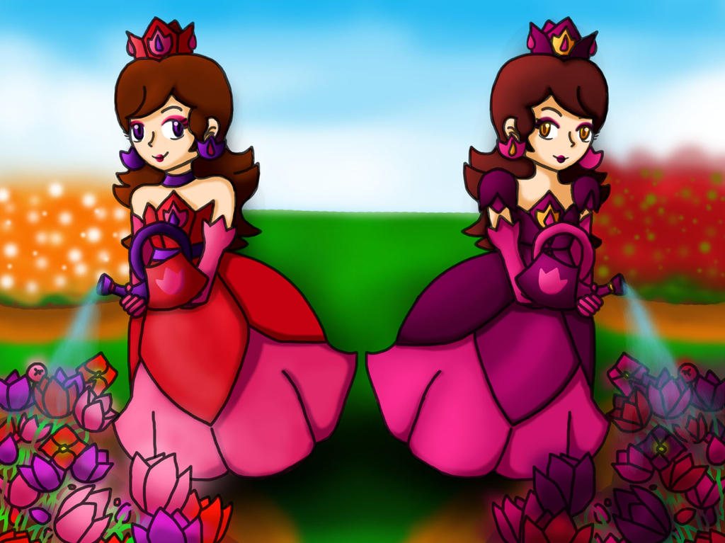Gift: Princess Bella and Bellina's tulip garden by Roiality