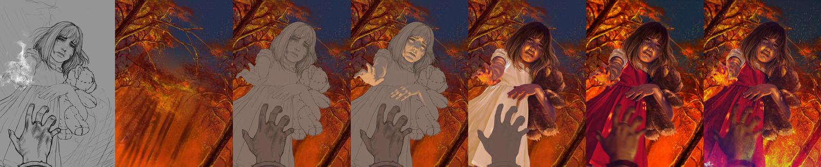 Annie LOL fan art Process by Hype-Arts