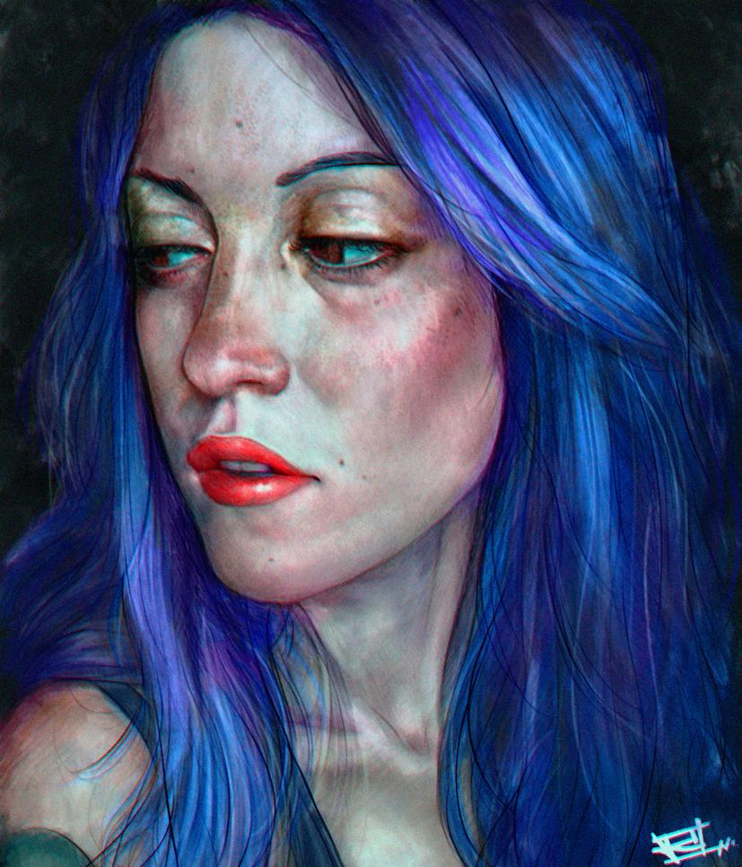 Beauty girl Portrait by Hype-Arts