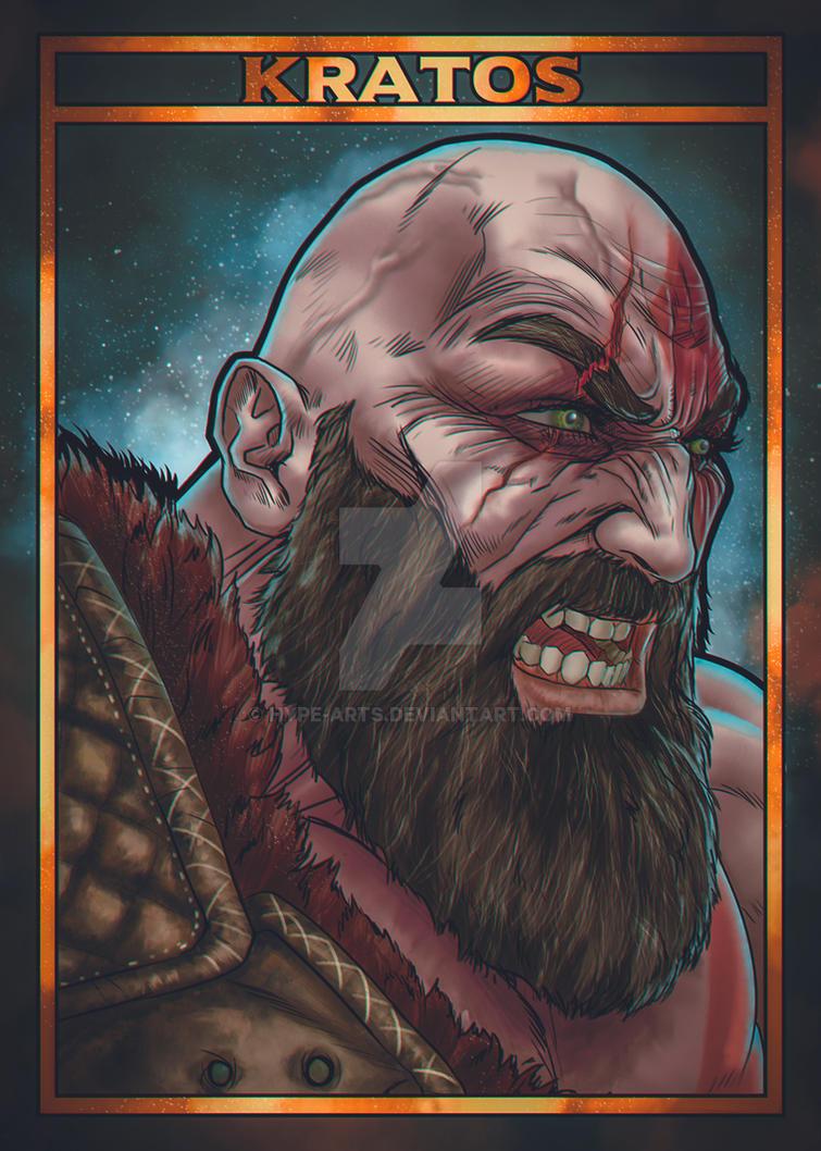 Kratos fan art by Hype-Arts