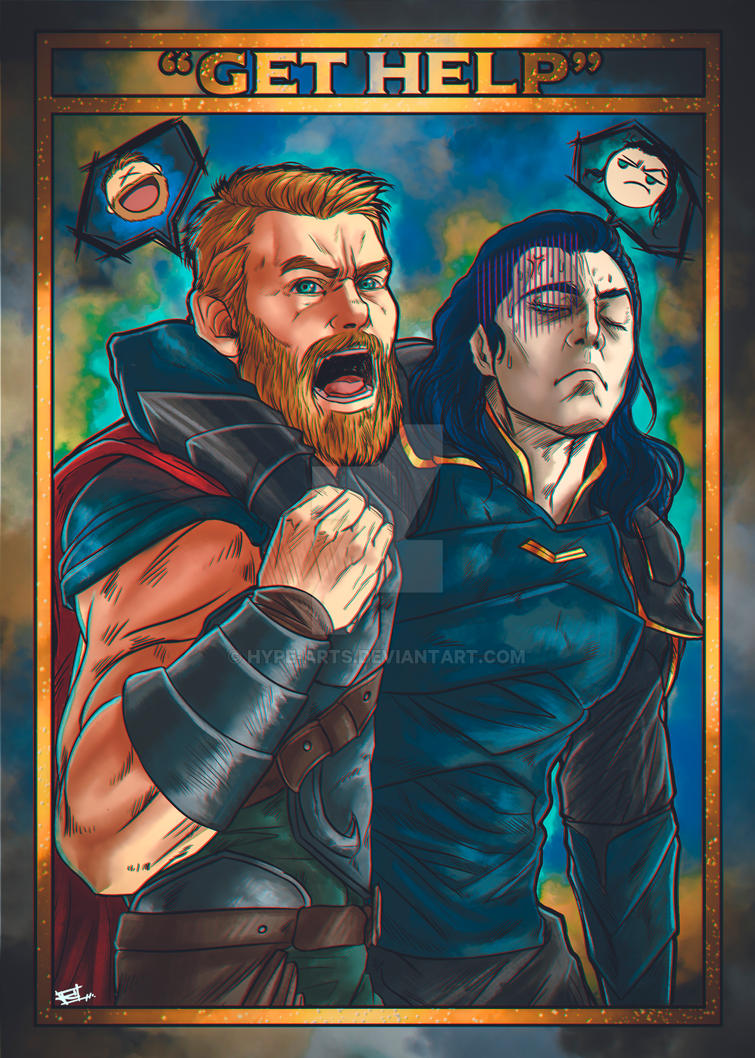 Loki Thor get help fan art by Hype-Arts