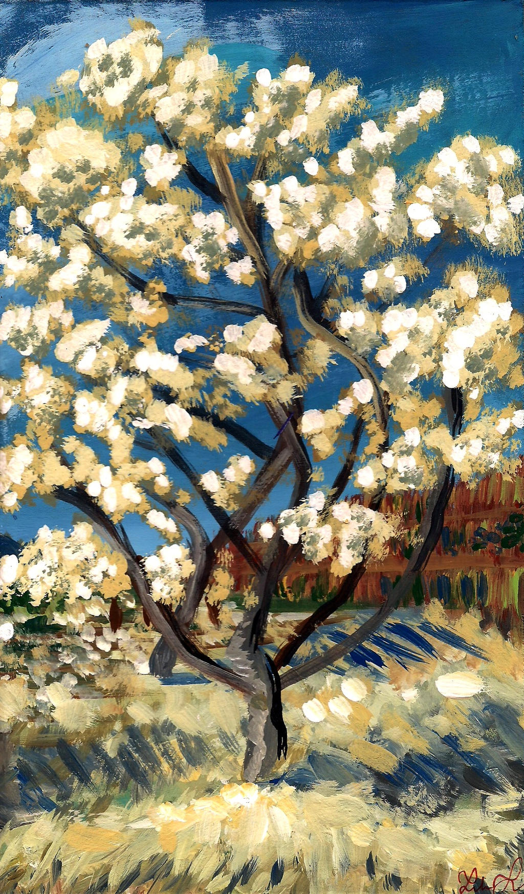 Peach Trees In Blossom (POC) by plantashes on DeviantArt