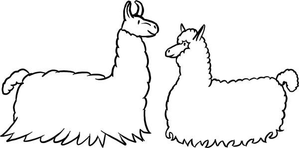 Llama and Alpaca Resting by Shayla06