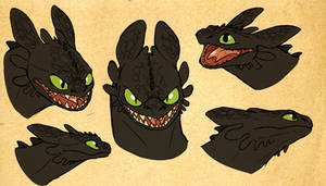 toothless shetches