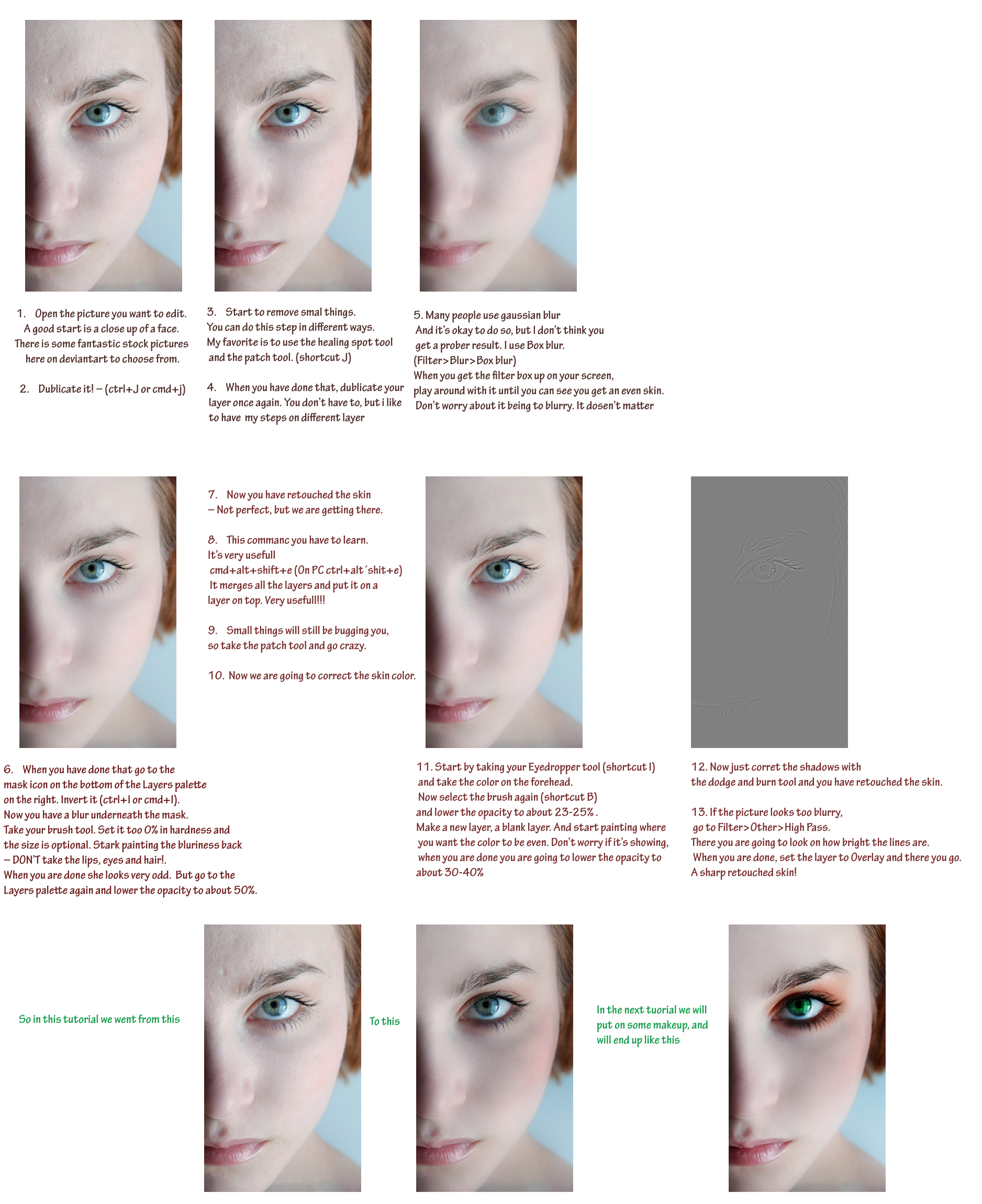Pro skin retouch tutorial 1 by Initio