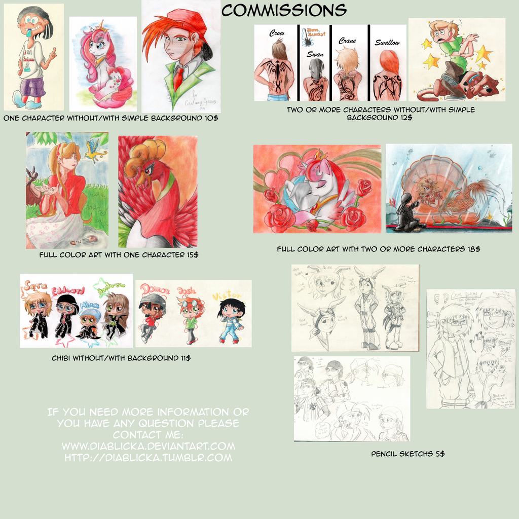 Comissions Information by Diablicka
