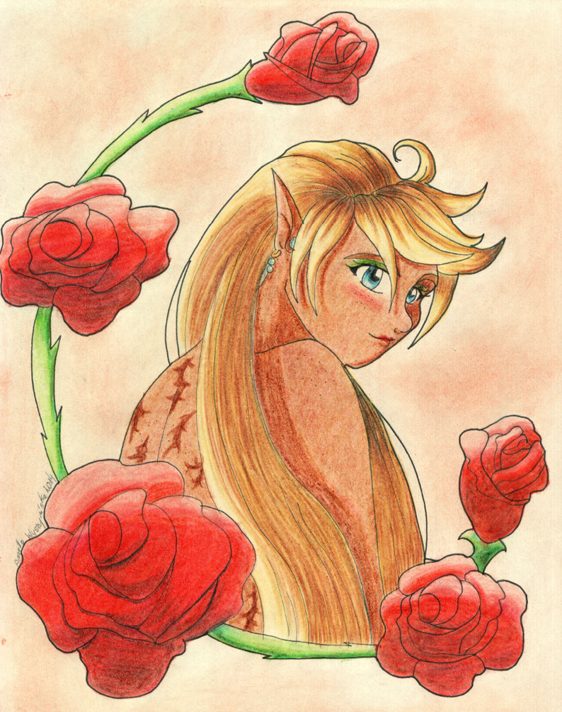 Red roses portrait by Diablicka