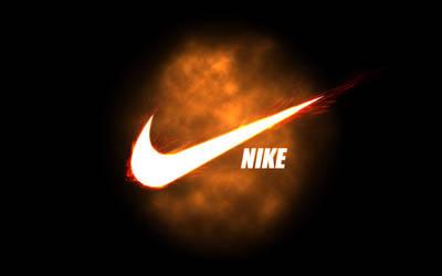 Nike_ flared swoosh