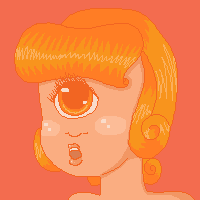 Orange Cyclops by robynneski