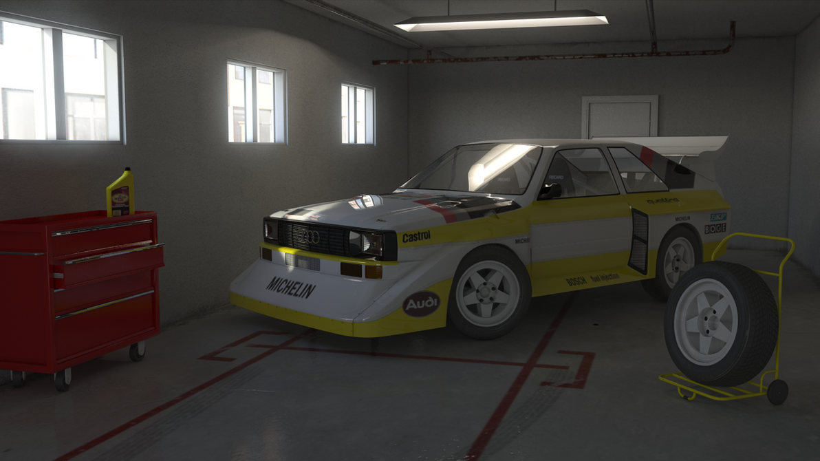 Audi quattro inside garage by filipeigreja on deviantart for Garage audi tours