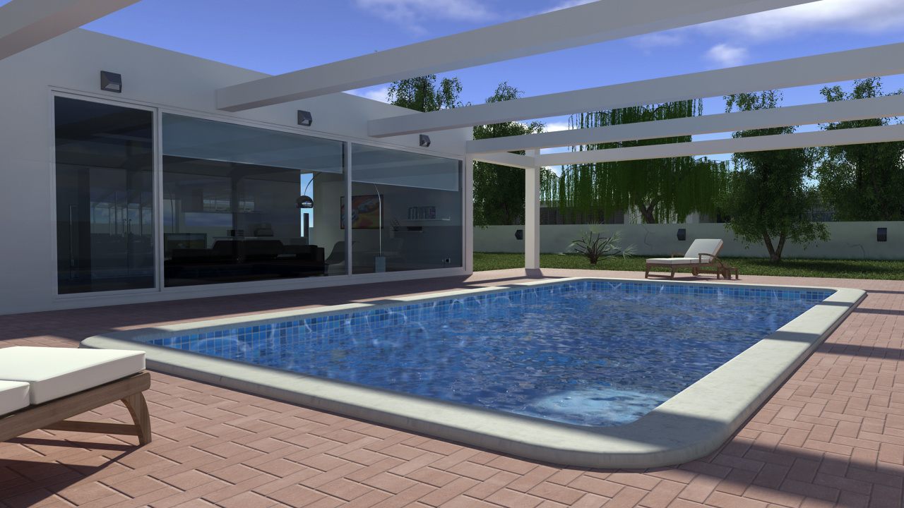Swimming pool exterior by filipeigreja on deviantART