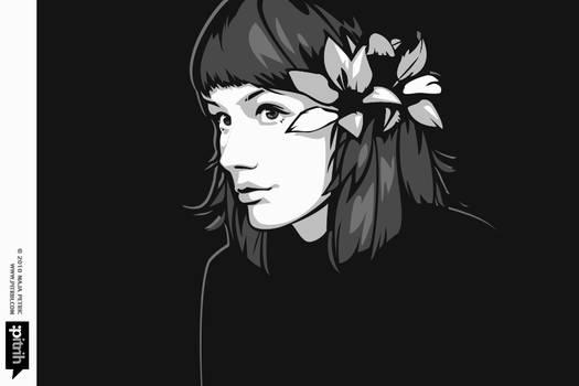 Colorless portrait