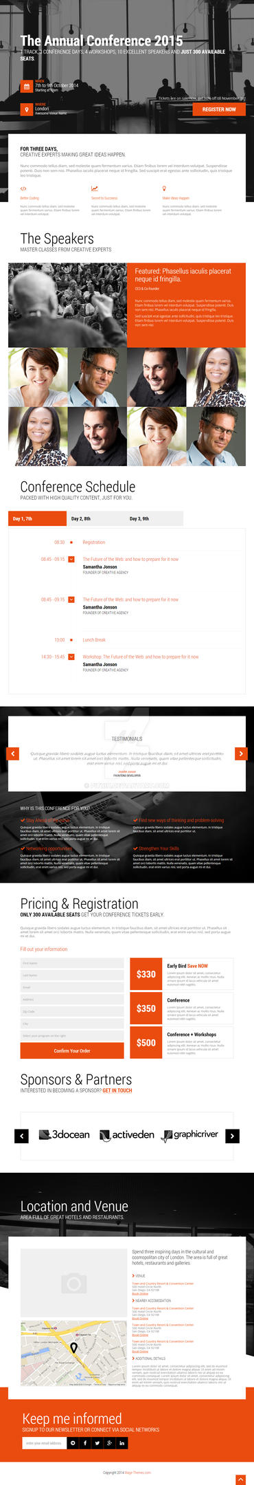 Conference and event web design by pitrih