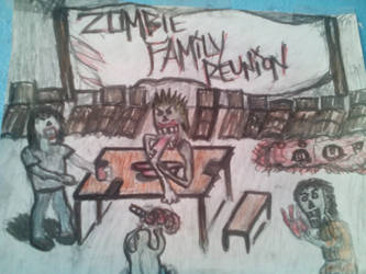 ZOMBIE FAMILY REUNION by tiooonnn
