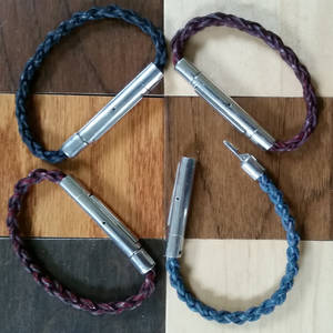 Braided Leather Carabiners
