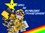 Wario as bumblebee transformers by SimonCaneplz
