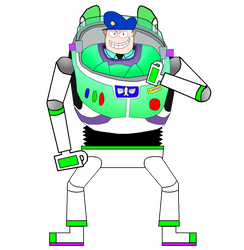 Fat Cop as Buzz Lightyear by SimonCaneplz