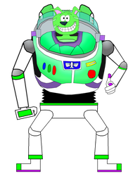 Snuffles as Buzz Lightyear by SimonCaneplz