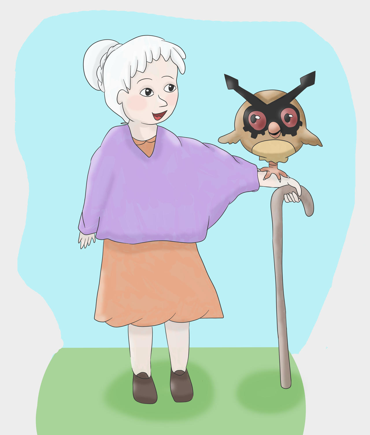 Old Lady with Hoothoot